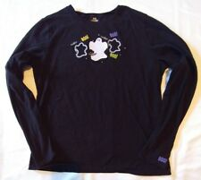 Halloween Top Size XL (16/18) Black Long Sleeve Pullover Ghost BOO!