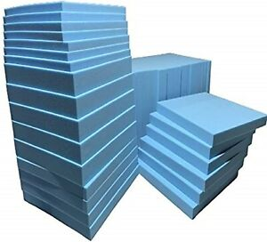 BLUE Firm Foam Cut to Any size High Density Foam Cushions Seat Pads Firm