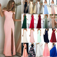 Women Ladies Formal Long Prom Evening Bridesmaid Wedding Cocktail Party Dress