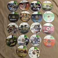 Xbox 360 Wholesale Disc Only 18 Game Lot Minecraft DDR WWE Madden