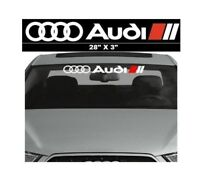 Audi Car Sunstrip Graphics Stickers Decals Windscreen Sun-strip Window