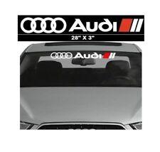 Audi Car Sunstrip Graphics Stickers Decals Windscreen Sun-strip Window