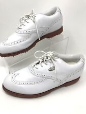 NIKE 'AIRLINER' White Leather Wingtip Cleats Golf Shoes Women's US Size 7