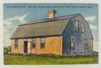 Postcard Linen Myles Standish House Duxbury Massachusetts