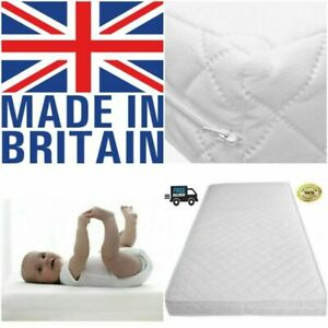Travel Cot Baby Mattress 100 x 70 x 10 CM Extra Thick More Comfy Made in UK
