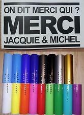 Sticker Jacquie et Michel on dit merci qui? 16cm x 9.5cm