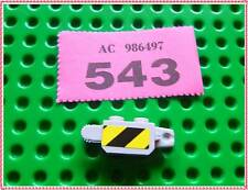 543 LEGO Part 30386pb01 Hinge Brick 1 x 2 with Black and Yellow Danger Stickers