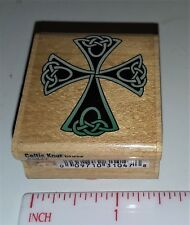 Set of 3 Religious Cross Wood Block Rubber Ink Stamps Crafts Exc  Stampabilities