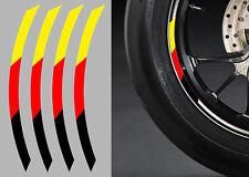 "4 X STICKERS DRAPEAU ROUE JANTE 17"" BMW AUTOCOLLANT MOTO (RA074)"