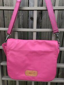 JON HART DESIGN Pink Crossbody Messenger Bag Coated Canvas Shoulder Strap