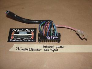 73 Cadillac Eldorado INSTRUMENT CLUSTER SPEEDO WIRE HARNESS CONNECTOR PIGTAIL