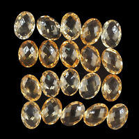 VVS 20 Pcs Natural Citrine 14mm/10mm Oval AAA Quality Checker Cut Gemstones Lot