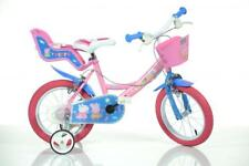 "Dino Peppa Pig Pink Kids Girls Bike Bicycle 14"" Spoke Pneumatic Wheel 144R-PIG"