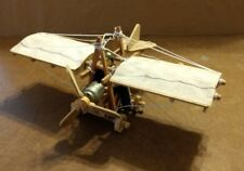 "Unique Wooden Airplane Model Battery Operated ""One of a Kind"" I'm Sure"
