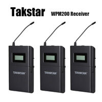 3X TAKSTAR Wireless Monitor System In-Ear Stereo Receiver UHF Frequency band PLL