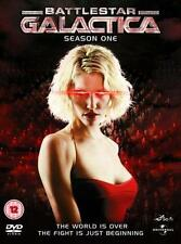 BATTLESTAR GALACTICA Complete Season 1 (One) TV Sci-Fi 4 Disc DVD Set *EXC*