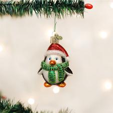Old World Christmas Playful Penguin Glass Nautical Christmas Ornament 16083