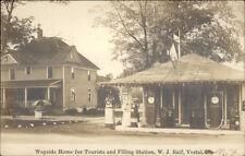Vestal NY Wayside Home & Gas Station WJ Raif Real Photo Postcard dcn