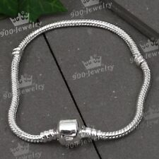5x Silver Plated Charm Chain Finding Clip Bracelet Fit European Bead Jewelry HOT