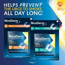 NicoDerm CQ Clear Patches 21 mg step 1, box of 21 patch