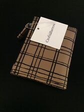 Craft And Barrow Tri-fold Women's Wallet Plaid Tan Black