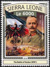 WWI 1916 BATTLE OF VERDUN German Army General Erich von Falkenhayn / Flag Stamp