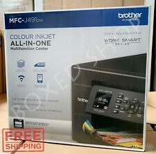 Brother Wireless Color Inkjet All-in-One Printer MFC-J491DW with Duplex
