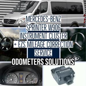 MERCEDES-BENZ SPRINTER W906 Instrument Cluster + EZS Mileage Correction Service