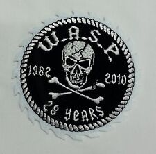 TOPPA PATCH TESCHIO W.A.S.P. WASP WITHE ANGLOSAXON PROTESTANT 1982 2010 28 YEARS