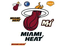 NEW Fathead NBA Miami Heat Logo Wall Decal, Total of 5 Heat Decals (See Details)