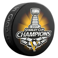 2017 PITTSBURGH PENGUINS STANLEY CUP CHAMPIONS HOCKEY PUCK CROSBY MALKIN MURRAY