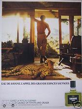 PUBLICITÉ 1983 EAU DE SAVANE L'APPEL DES GRANDS ESPACES SAUVAGES - ADVERTISING