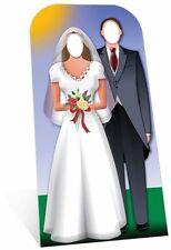 Coppia di sposi con aperture Lifesize sagoma di cartone