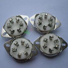 4pcs New 6pin silver Ceramic vacuum tube socket top mount valve Fr 310 366 audio