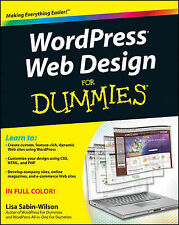 NEW WordPress Web Design For Dummies by Lisa Sabin-Wilson Paperback Book (Englis