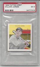 1933 Tattoo Orbit baseball card William Billy Jurges Chicago Cubs PSA 5 EX