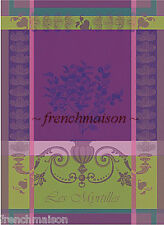 Garnier Thiebaut BLUEBERRY Violet French Cotton Woven Tea/Dish/Kitchen Towel New