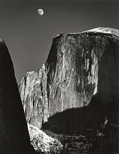 """Moon and Half Dome photo by Ansel Adams,16""""x20"""", Giclee Art Canvas Print"""
