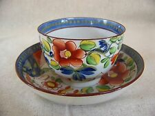 Gaudy Dutch SINGLE ROSE Pattern CUP and SAUCER #3