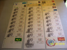 Lot-33 Most All Cacheted Unaddressed U.N Fdi Postal Stationary Cards (Read Ad)