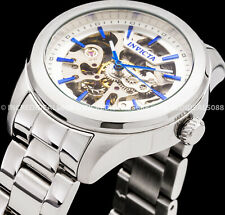 Invicta Women Vintage Mechanical Auto Stainless Steel Bracelet Skeleton Watch