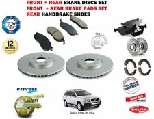 FOR Volvo XC90 D5 02> FRONT + REAR BRAKE DISCS SET + DISC PADS + HANDBRAKE SHOES