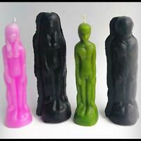 2Pcs Man Women Shaped Plastic Candle Mold Mould Soap Making Model DIY Craft