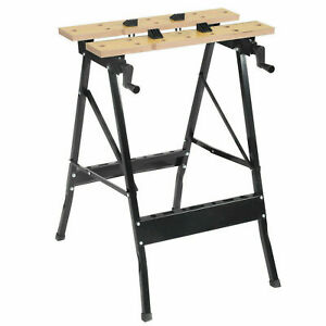 NEW FOLDABLE WORKBENCH PORTABLE WOOD BENCH WORK CLAMPING FOLDING WORKTOP TABLE