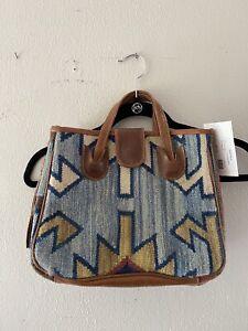 Handmade Shoulder  Hobo Bag With  Addjustable Genuine Leather Strap from Vintage hand-woven kilim