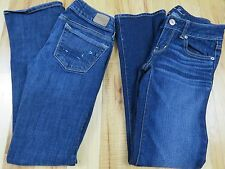 Lot of 2 AMERICAN EAGLE AE Skinny Straight Women's Junior's Jeans Size 00 SHORT