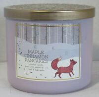Bath & Body Works 3-wick Large Jar Scented Candle Fall MAPLE CINNAMON PANCAKES