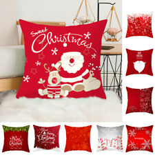 45*45cm Square Pillow Case Cushion Cover Throw Christmas Beer Printed