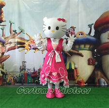 NEW HELLOKITTY PINK CAT MASCOT CARTOON COSTUME FANCY PARTY CARNIVAL ADULT SIZE