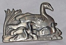 HTF McClelland Barclay Large Swan Baby Signet Ducks Sterling Silver Pin Brooch